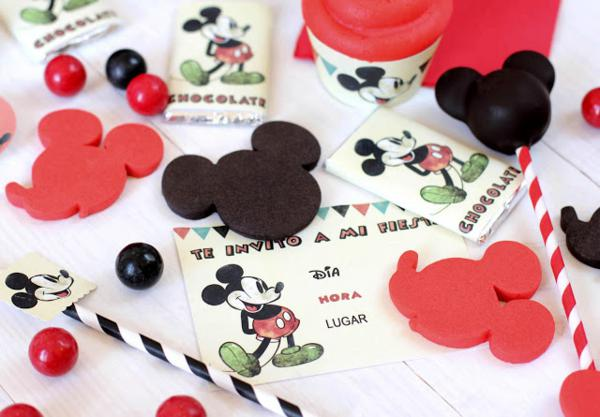 Vintage Mickey Mouse Party via Kara's Party Ideas | KarasPartyIdeas.com #disney #vintage #mickey #mouse #party #ideas (4)