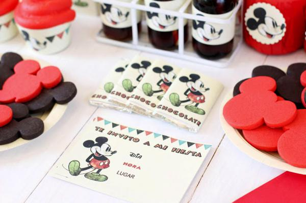 Vintage Mickey Mouse Party via Kara's Party Ideas | KarasPartyIdeas.com #disney #vintage #mickey #mouse #party #ideas (15)