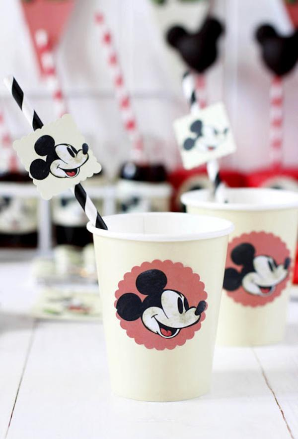 Vintage Mickey Mouse Party via Kara's Party Ideas | KarasPartyIdeas.com #disney #vintage #mickey #mouse #party #ideas (14)