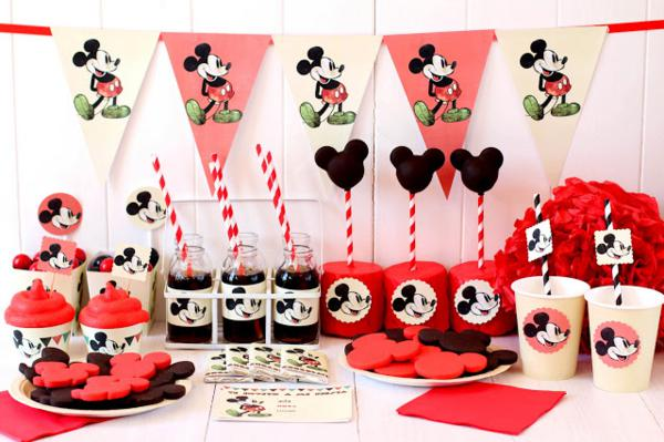 Vintage Mickey Mouse Party via Kara's Party Ideas | KarasPartyIdeas.com #disney #vintage #mickey #mouse #party #ideas (16)