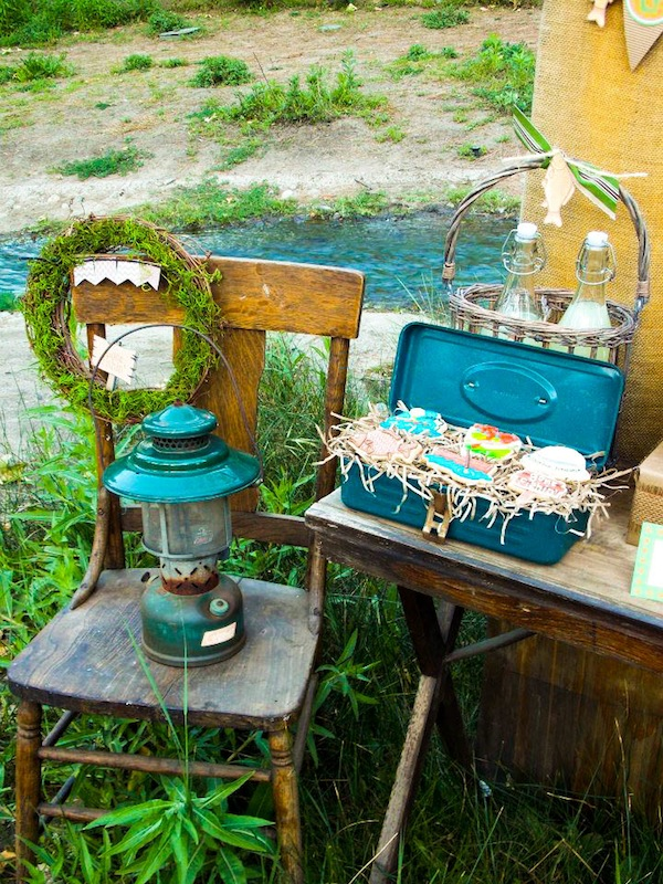 Kara 39 s party ideas gone fishing boy themed party planning for Lake themed decor