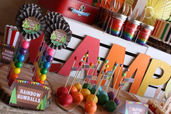 Kara S Party Ideas Camp Arts Crafts Rainbow Party Kara S Party Ideas