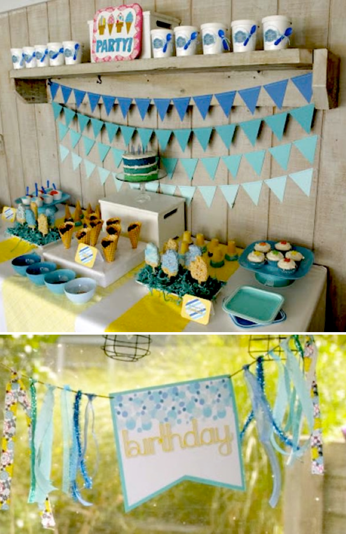 Karas Party Ideas Ice Cream Themed 8th Birthday Party