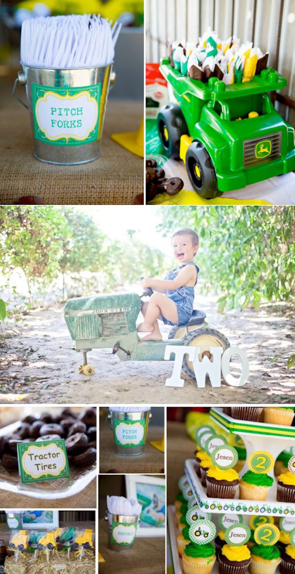 John Deere Tractor Themed Birthday Party With So Many Cute Farm Ideas Via Karas