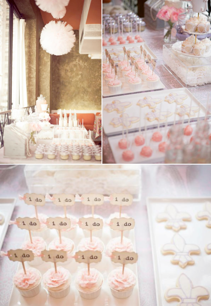 Parisian Vintage Bridal Shower full of lovely ideas! Via Kara's Party Ideas KarasPartyIdeas.com #bridal #shower #ideas #pink #vintage