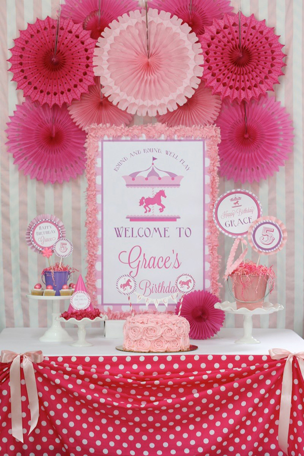 Karas Party Ideas Pink And Purple Carousel Birthday Party Supplies
