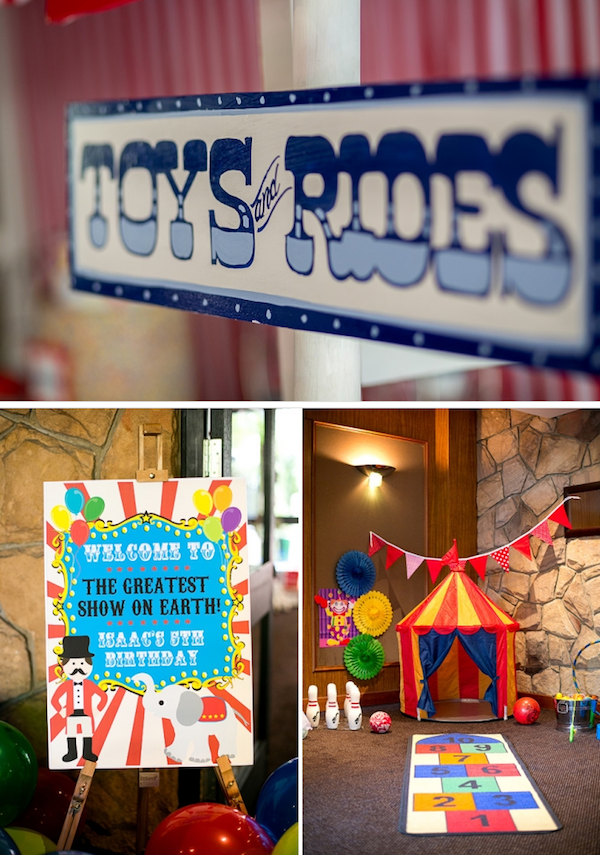Big Top Circus Carnival themed birthday party FULL OF IDEAS! Via Kara's Party Ideas KarasPartyIdeas.com #circus #carnival #fair #birthday #party #supplies #ideas #decor #idea (13)