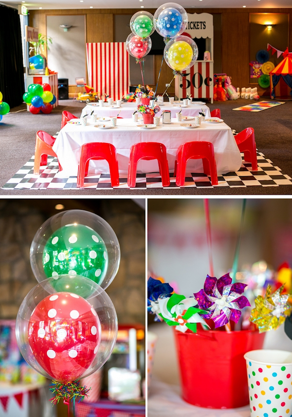 Big Top Circus Carnival themed birthday party FULL OF IDEAS! Via Kara's Party Ideas KarasPartyIdeas.com #circus #carnival #fair #birthday #party #supplies #ideas #decor #idea (9)