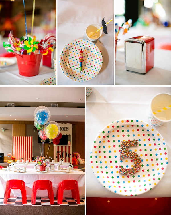 Big Top Circus Carnival themed birthday party FULL OF IDEAS! Via Kara's Party Ideas KarasPartyIdeas.com #circus #carnival #fair #birthday #party #supplies #ideas #decor #idea (8)