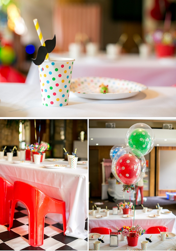 Big Top Circus Carnival themed birthday party FULL OF IDEAS! Via Kara's Party Ideas KarasPartyIdeas.com #circus #carnival #fair #birthday #party #supplies #ideas #decor #idea (7)