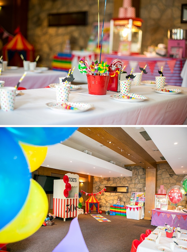 Big Top Circus Carnival themed birthday party FULL OF IDEAS! Via Kara's Party Ideas KarasPartyIdeas.com #circus #carnival #fair #birthday #party #supplies #ideas #decor #idea (6)