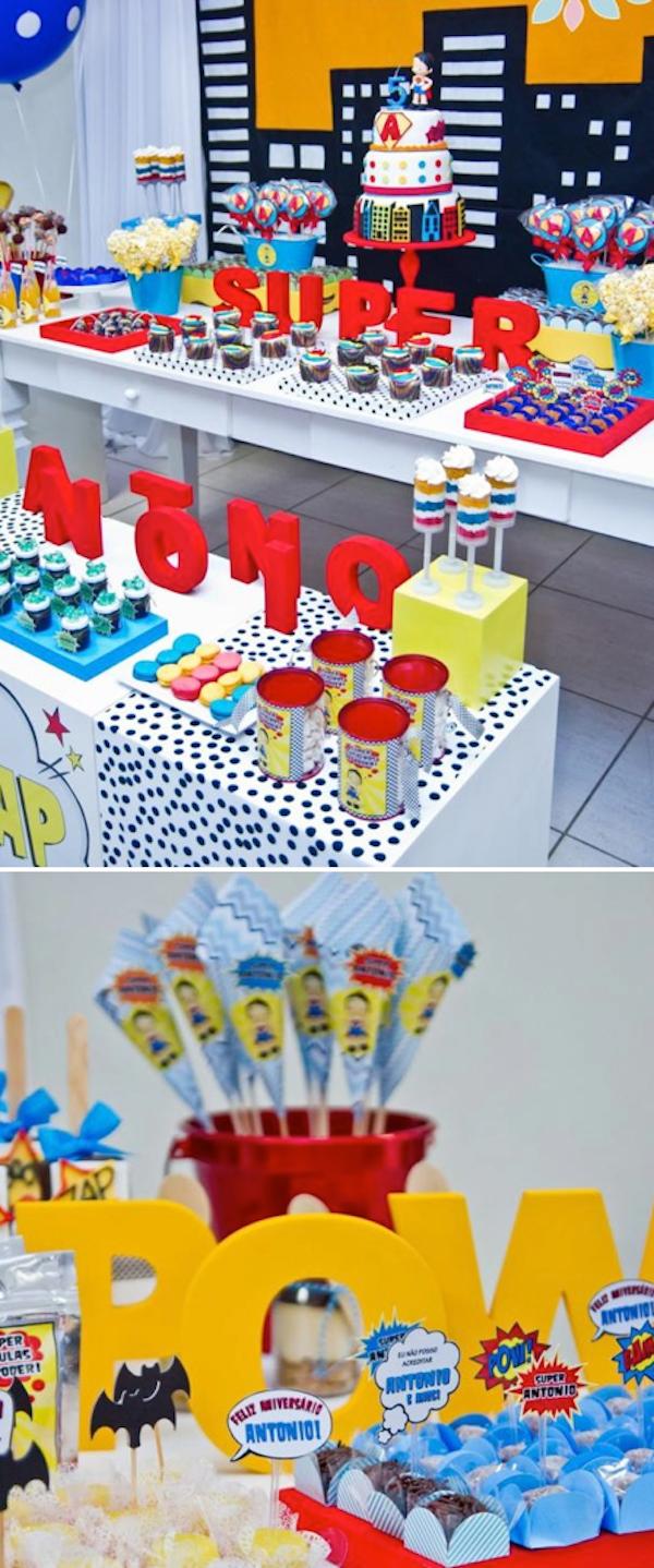 Karas Party Ideas Superhero Themed 5th Birthday Party Karas