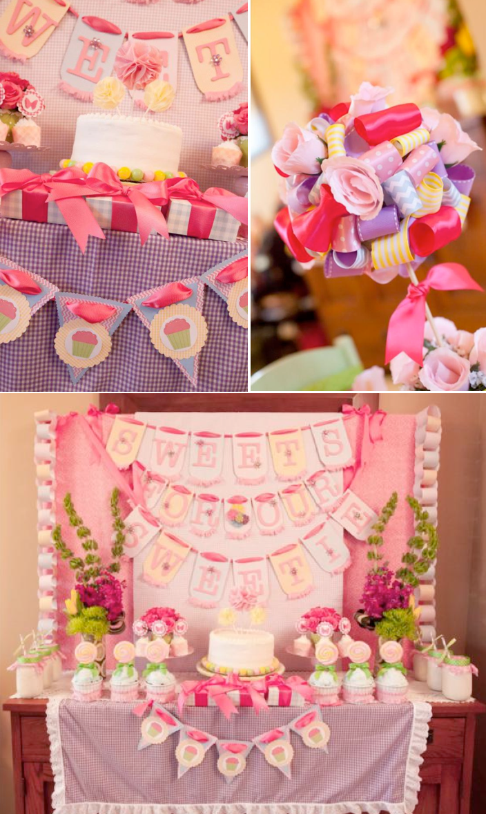 Karas Party Ideas Girly Gingham And Pink Themed Birthday Party