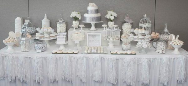 White And Silver Wedding Via Kara S Party Ideas Spartyideas