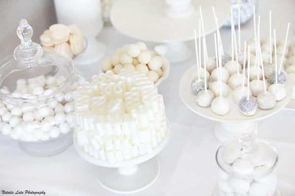 Karas Party Ideas White Silver Wedding Karas Party Ideas