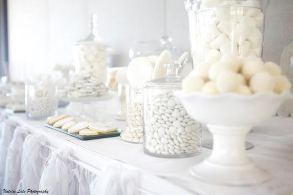 White And Silver Wedding Via Karas Party Ideas