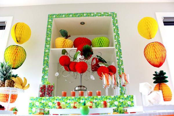 Karas Party Ideas Tutti Frutti Healthy Fruit Girl Boy