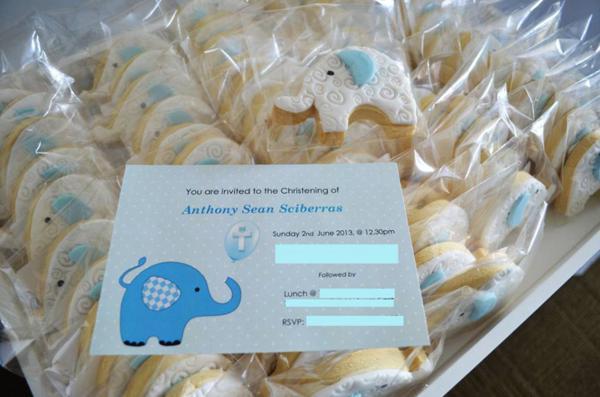 Karas Party Ideas Blue Elephant Boy Christening Baptism Party