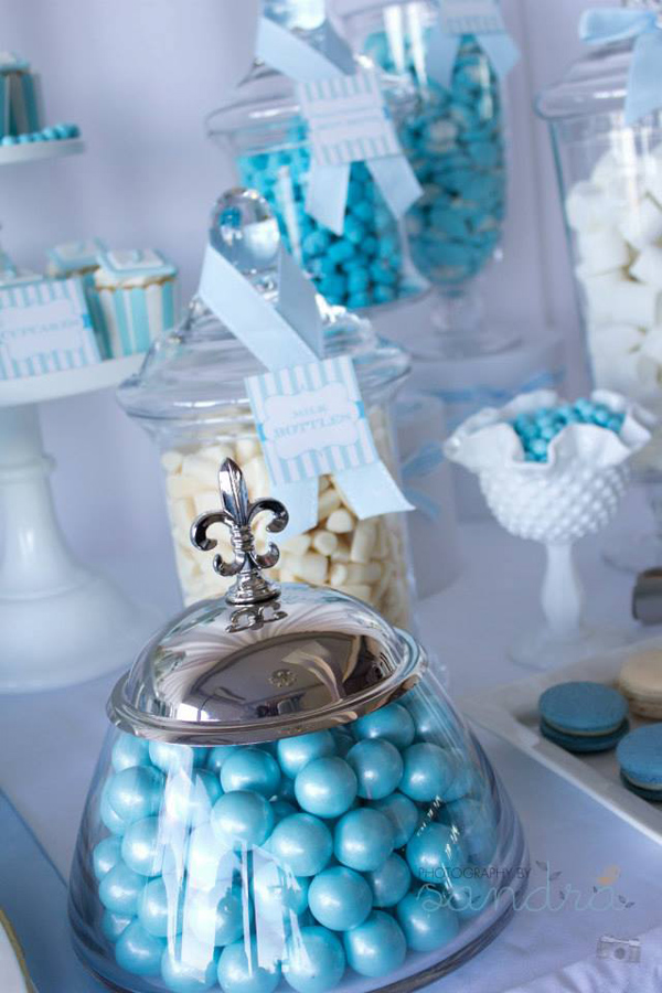 Kara S Party Ideas Blue Christening First Birthday Party