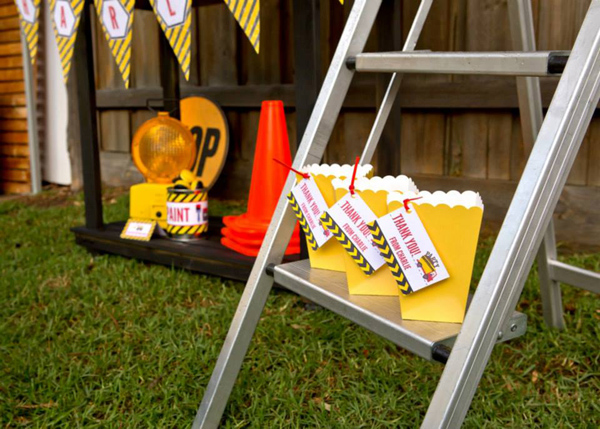 Construction Birthday Party via Kara's Party Ideas | Kara'sPartyIdeas.com #construction #birthday #party #supplies #ideas (10)