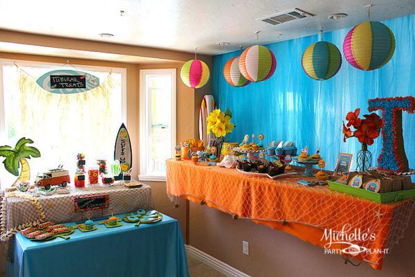 Kara 39 s party ideas hello summer surf beach boy girl party for Summer beach decor