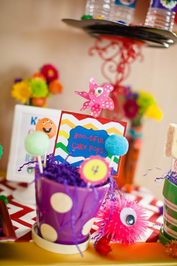Kara's Party Ideas Girly Monster Bash Girl Birthday Party ...
