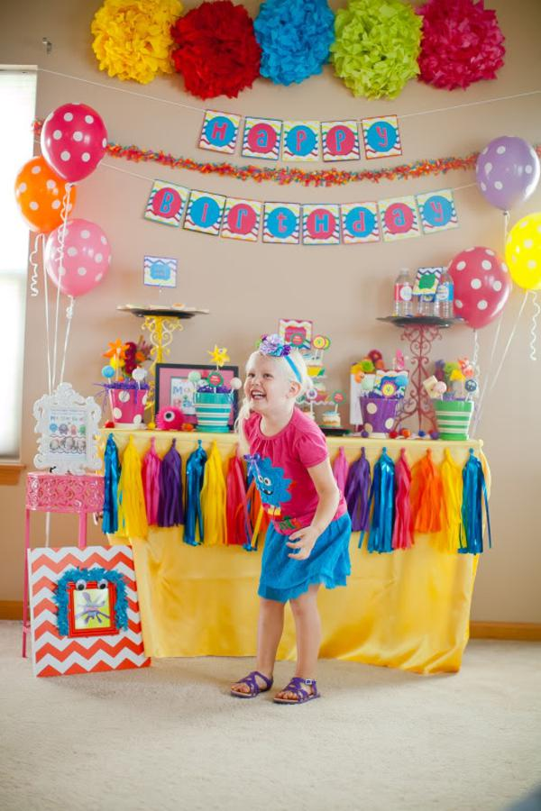 Kara S Party Ideas Girly Monster Bash Girl Birthday Party