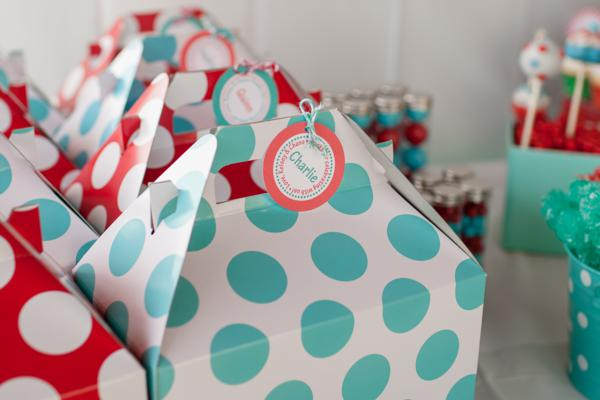 Aqua and Red Polka Dot Party via Kara's Party Ideas | KarasPartyIdeas.com #red #aqua #polka #dot #party #ideas (38)
