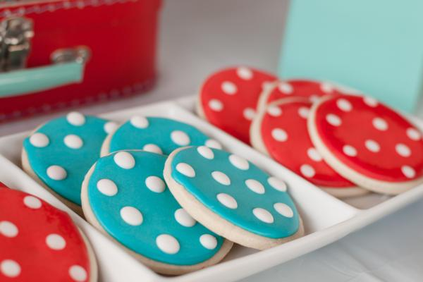Aqua and Red Polka Dot Party via Kara's Party Ideas | KarasPartyIdeas.com #red #aqua #polka #dot #party #ideas (37)