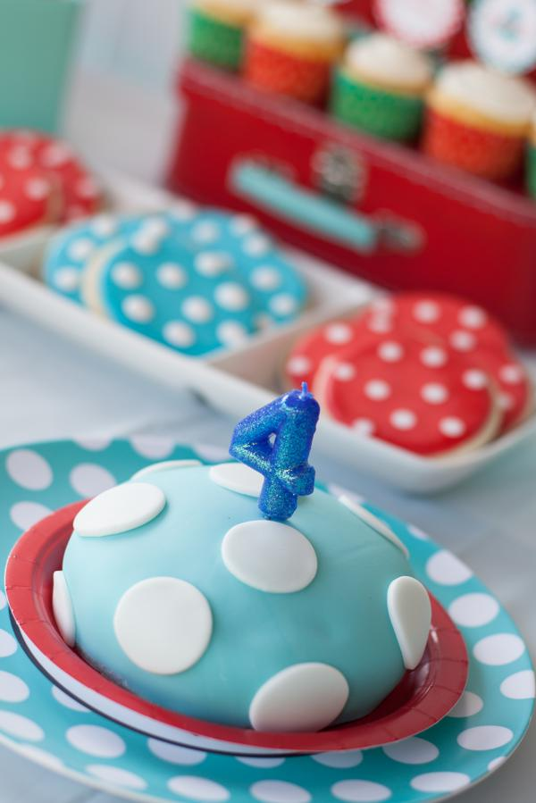 Aqua and Red Polka Dot Party via Kara's Party Ideas | KarasPartyIdeas.com #red #aqua #polka #dot #party #ideas (11)