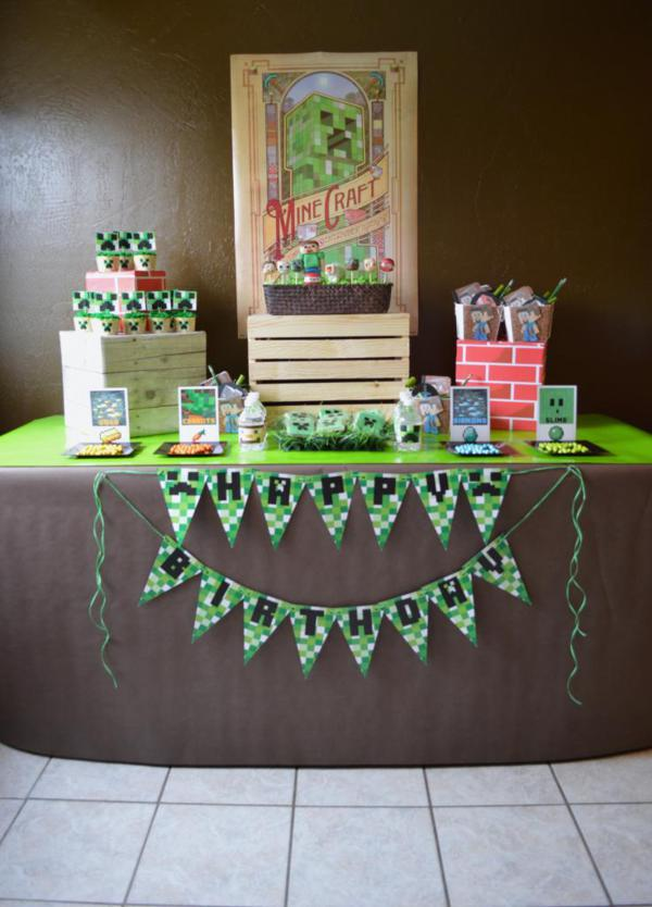 Vintage Minecraft Party via Kara's Party Ideas | KarasPartyIdeas.com #vintage #minecraft #mine #craft #video #game #party #ideas (12)
