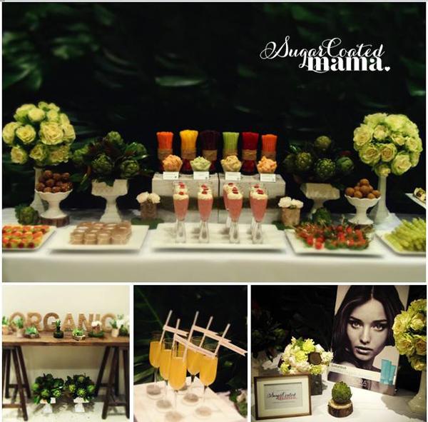 Birthday Party Buffet Table: Kara's Party Ideas Organic Buffet Veggie Bar Planning