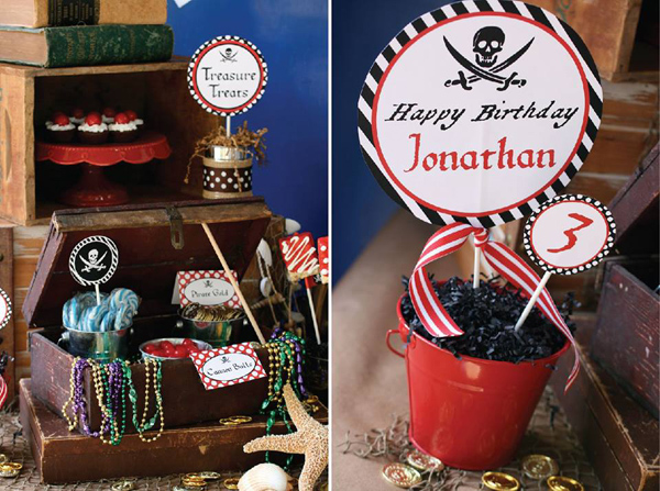 Pirate Third Birthday Party via Kara's Party Ideas | Kara'sPartyIdeas.com #pirate #third #birthday #party #supplies #ideas (15)