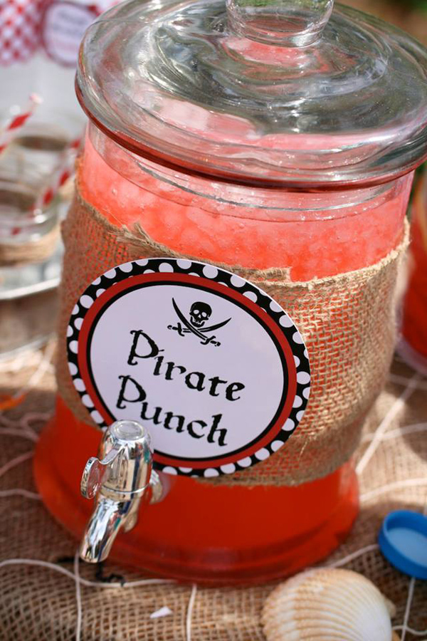 Pirate Third Birthday Party via Kara's Party Ideas | Kara'sPartyIdeas.com #pirate #third #birthday #party #supplies #ideas (11)