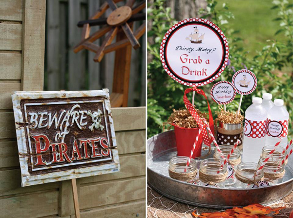 Pirate Third Birthday Party via Kara's Party Ideas | Kara'sPartyIdeas.com #pirate #third #birthday #party #supplies #ideas (19)