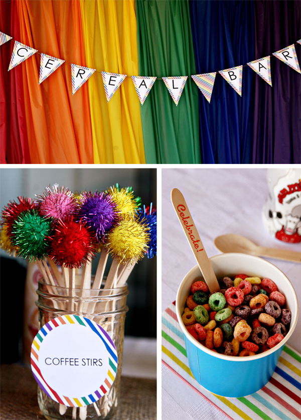 Rainbow Breakfast Party With Lots Of Ideas Via Karas