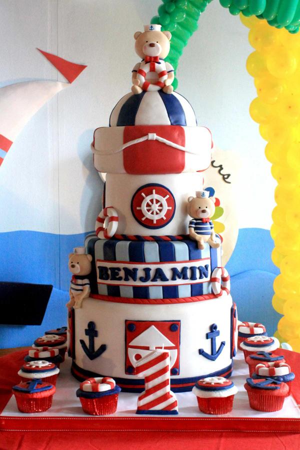 Kara S Party Ideas Sailor Bear Birthday Party Planning