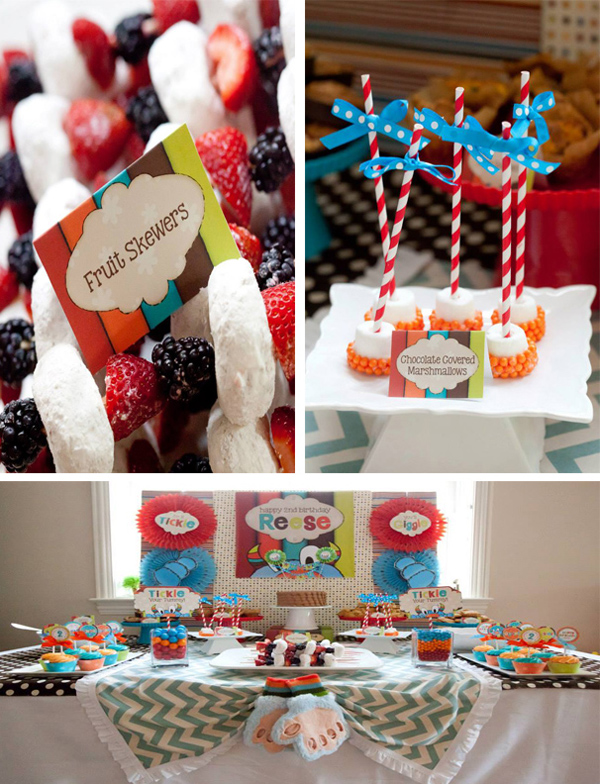 Tickle Monster Second Birthday Party with LOTS of Ideas via Kara's Party Ideas | KarasPartyIdeas.com #tickle #monster #birthday #party #supplies #ideas