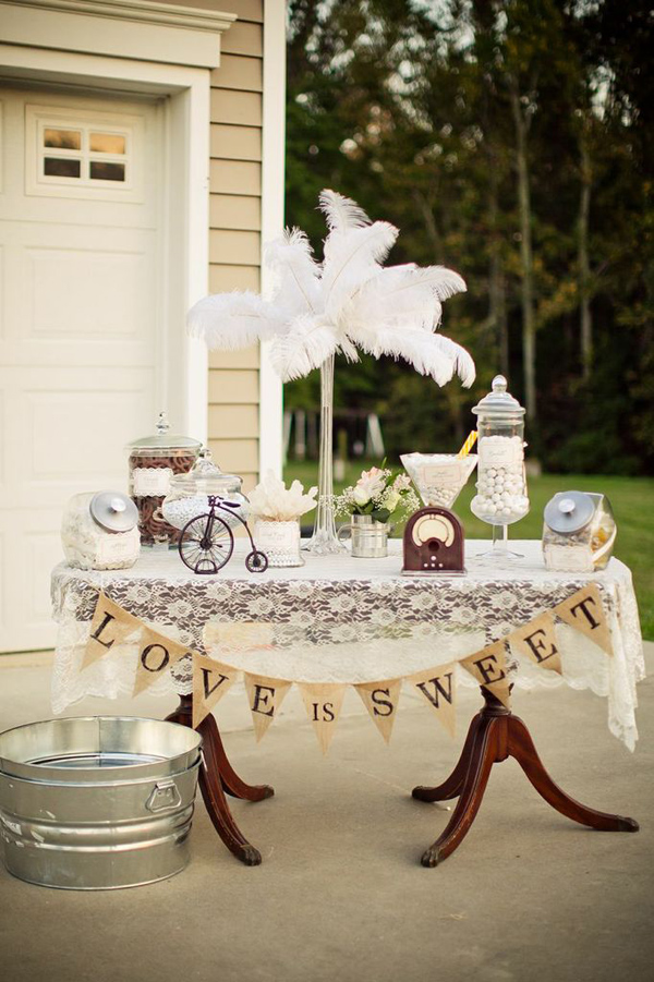 Vintage Backyard Wedding via Kara's Party Ideas | Kara'sPartyIdeas.com #vintage #backyard #wedding #supplies #ideas (4)