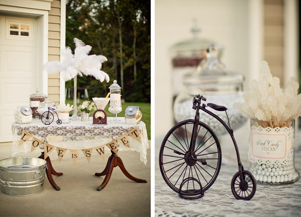 Vintage Backyard Wedding with Really Cute Ideas via Kara's Party Ideas | KarasPartyIdeas.com #vintage #backyard #wedding #supplies #ideas