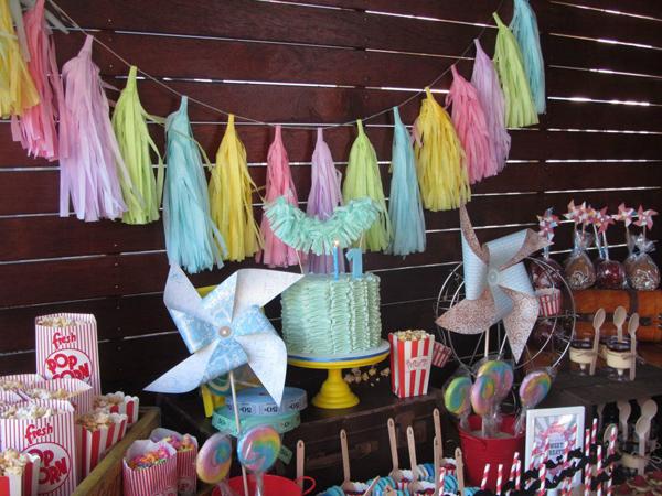Kara S Party Ideas Vintage Carnival 1st Birthday Party Kara S