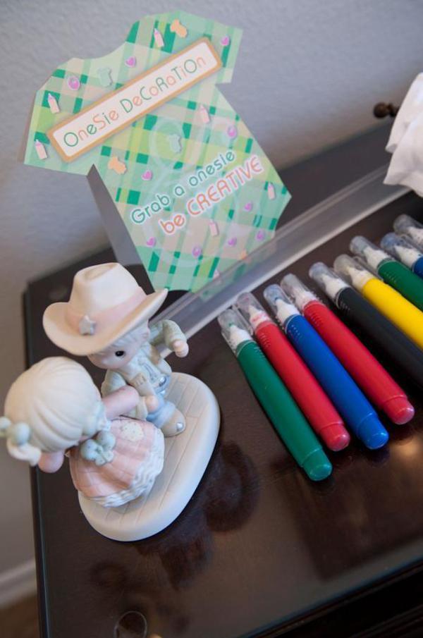 Kara S Party Ideas Precious Moments Inspired Onesie Baby Shower